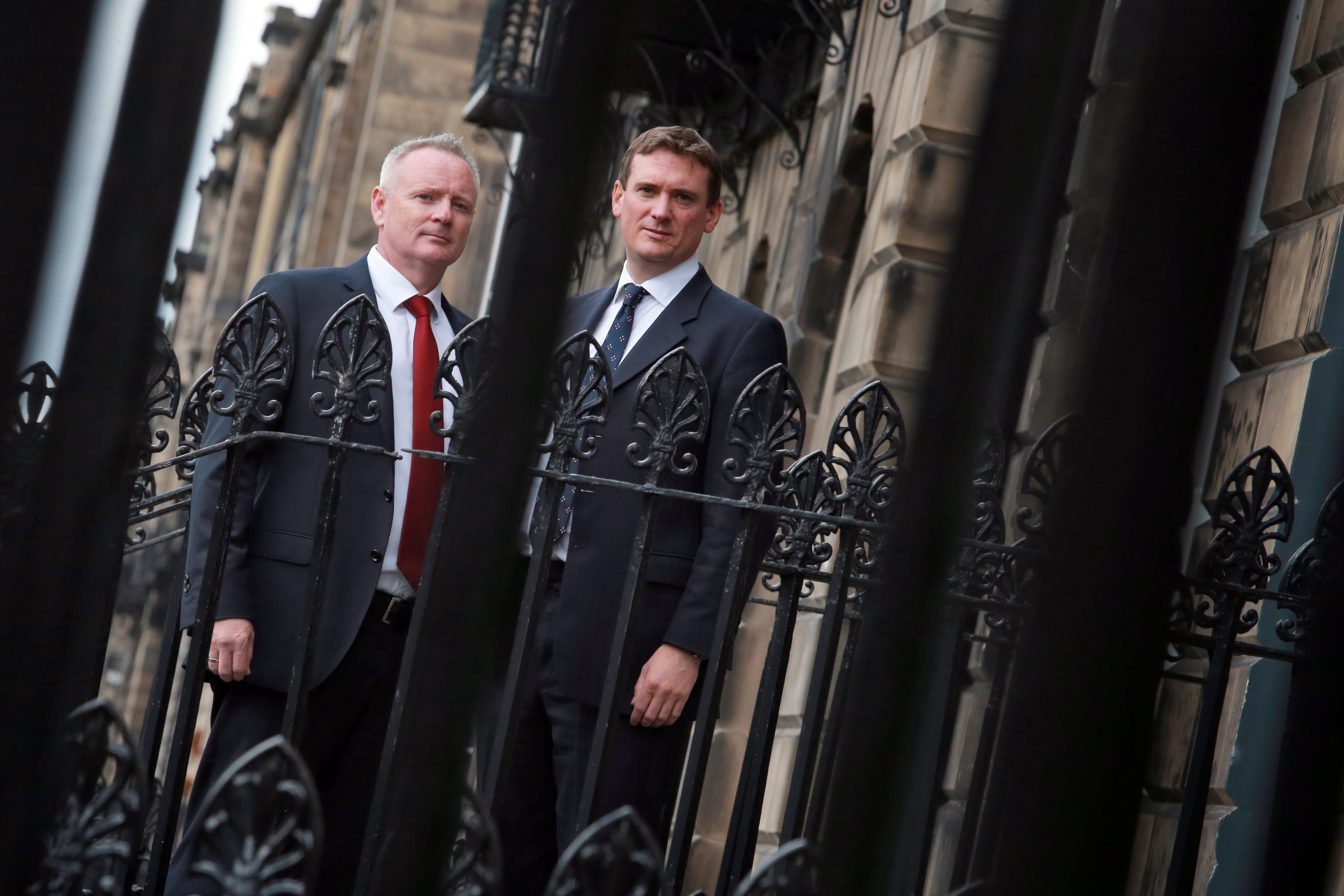 Adrian Innes, left, with LendingCrowd CEO Stuart Lunn