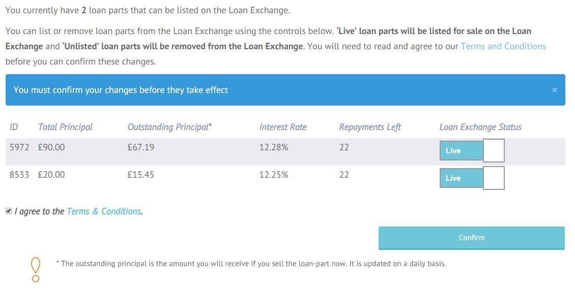 sell a loan part live
