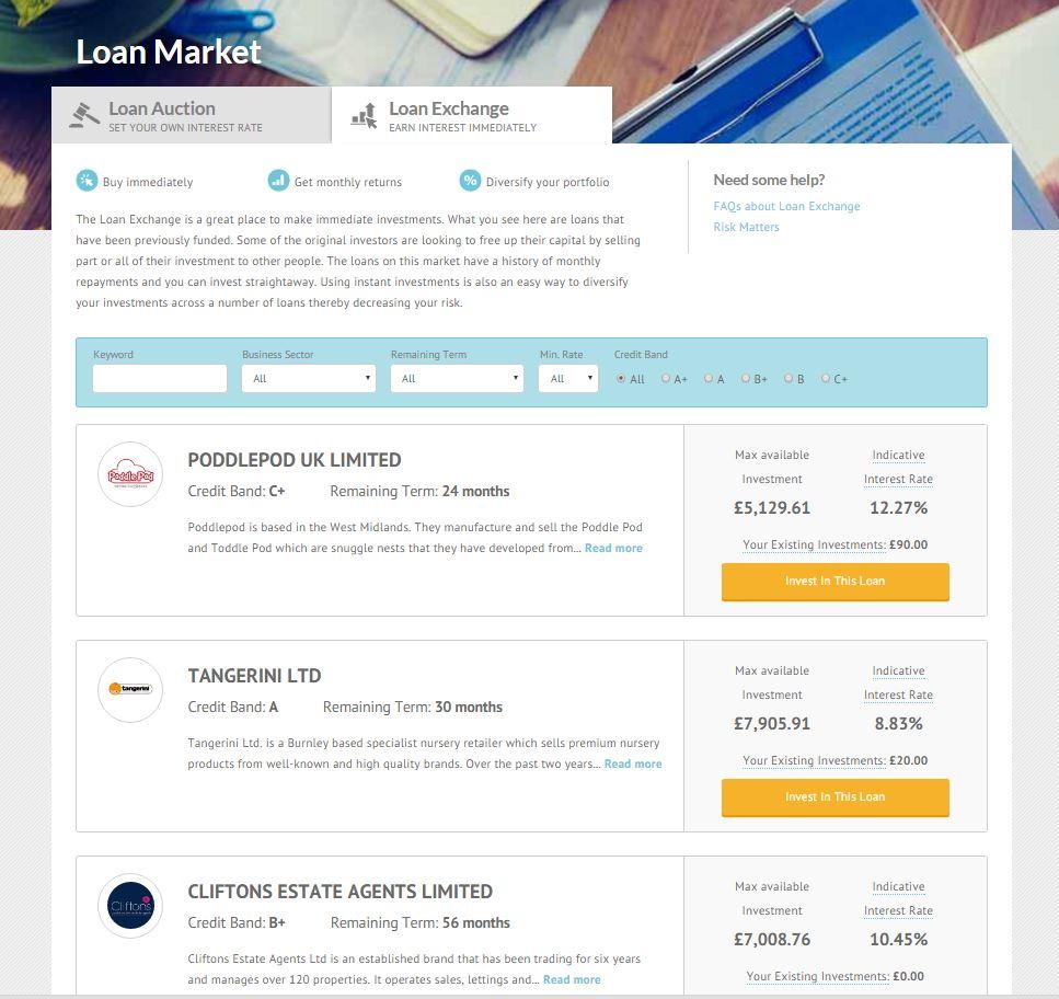 sell a loan part Loan Exchange