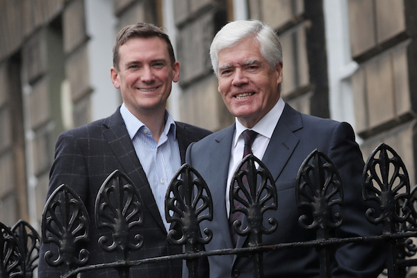 Stuart Lunn and Sir Sandy Crombie